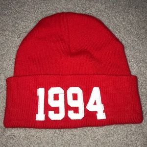 Red 1994 beanie